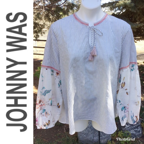 Johnny Was Tops - Johnny Was Boho Peasant Blouse